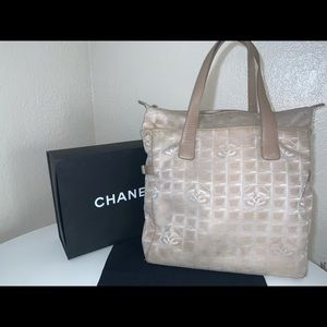 Authentic Chanel travel xxl shopper tote duffle